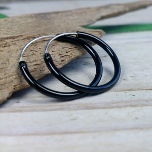 zwarte oorringen