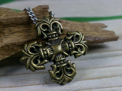 hanger kruis bronskleur