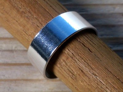 teenring zilver glad 6 mm (begin-maat 14,5mm)