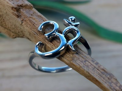 ring aum zilver (maat 16¾ - 17¼)
