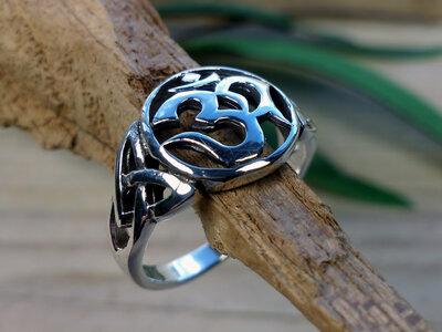 ring aum zilver (maat 16½ - 17 - 18 - 18¾)