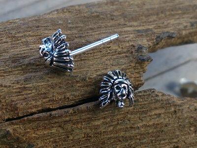 oorknopjes indiaan zilver