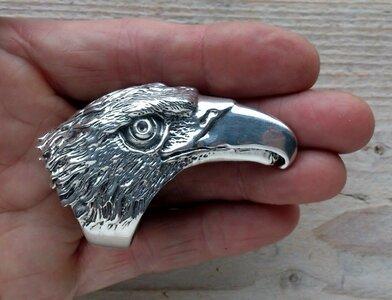 ring adelaar XL zilver (maat 24)