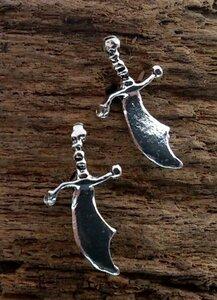 oorknopjes sabel zilver