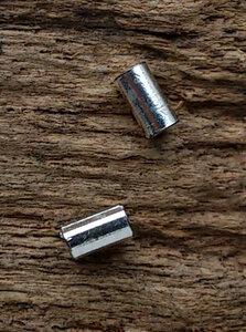 oorknopjes 'tube' zilver