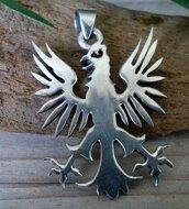 zilveren adelaar hanger