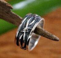 ring prikkeldraad zilver