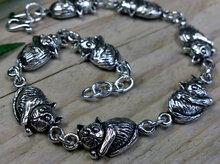 zilveren armband met katten