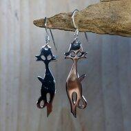 oorbellen met katten