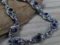 armband zilver blauw steen