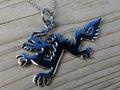 zilveren draken hanger